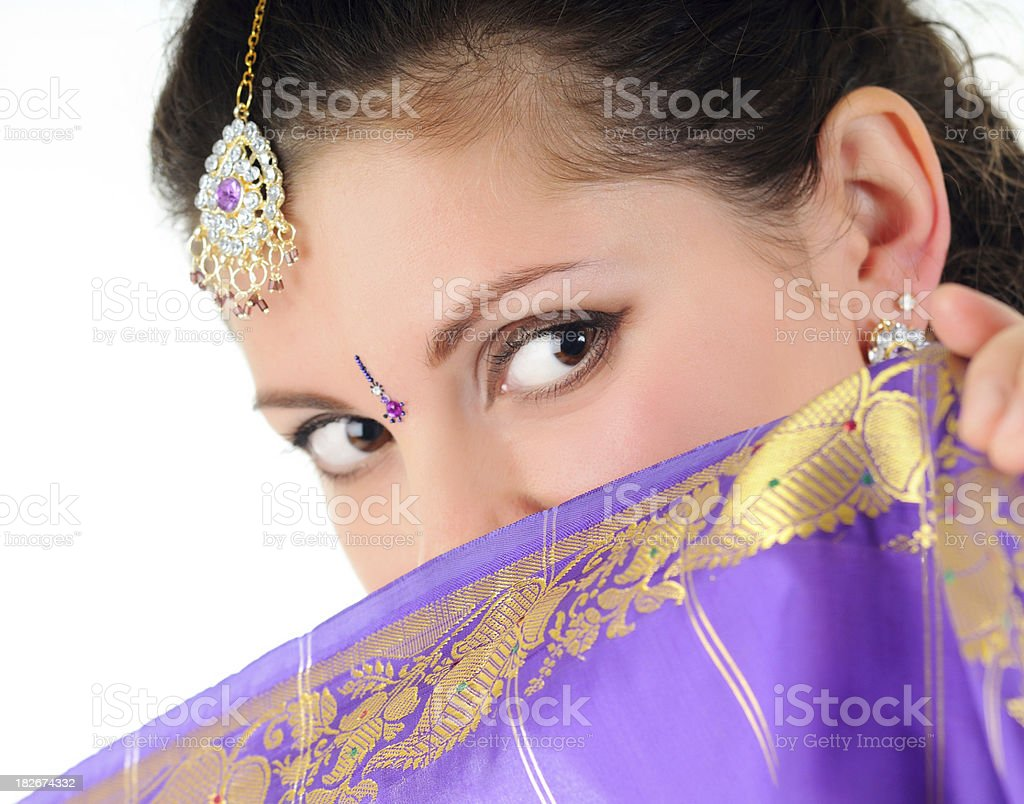 Indian woman portrait royalty-free stock photo