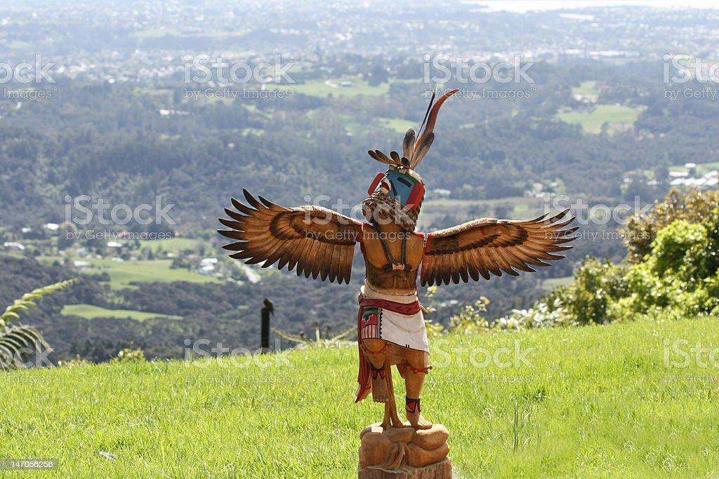 Indian Wood Figure stock photo