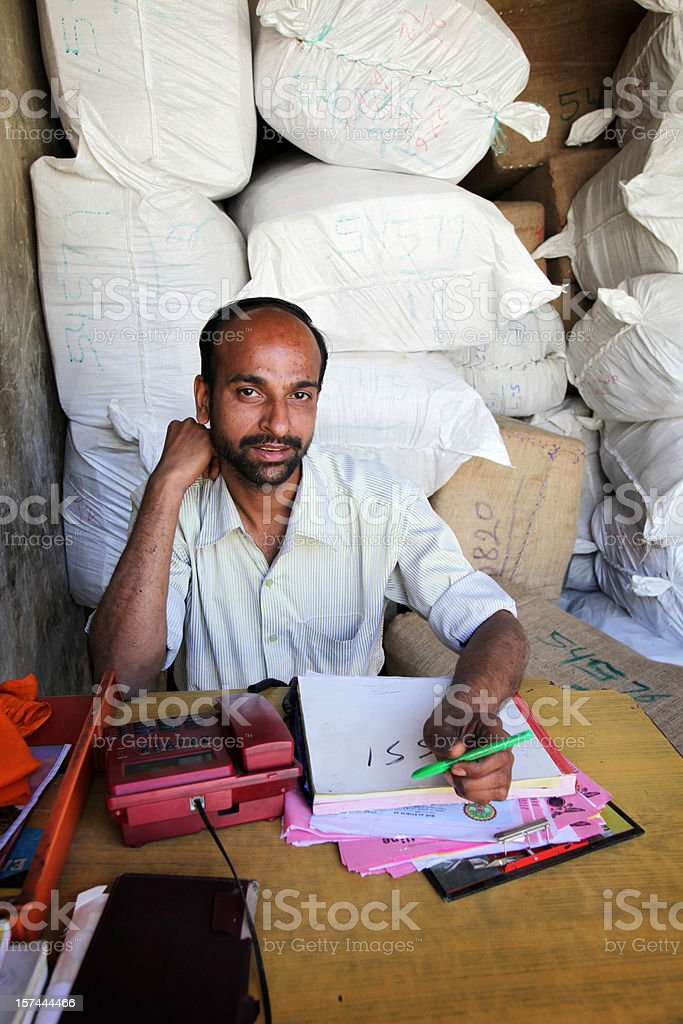 Indian workers: developing business stock photo