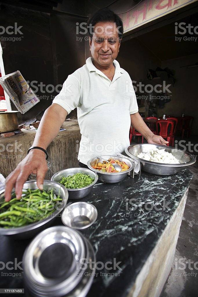 Indian workers: dhaba stock photo