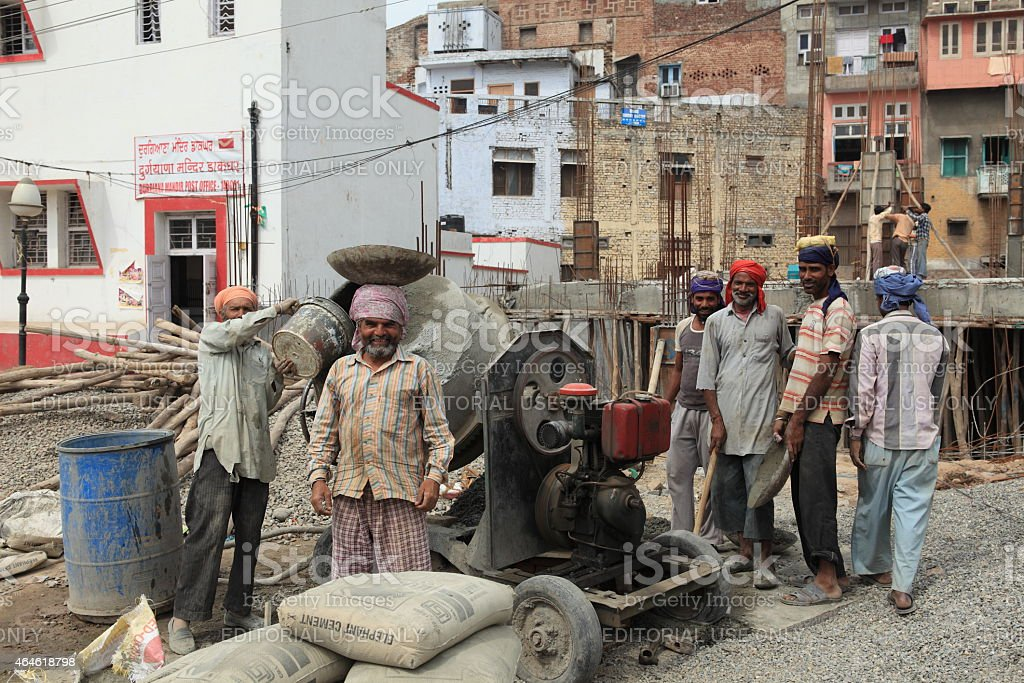 Indian Workers stock photo