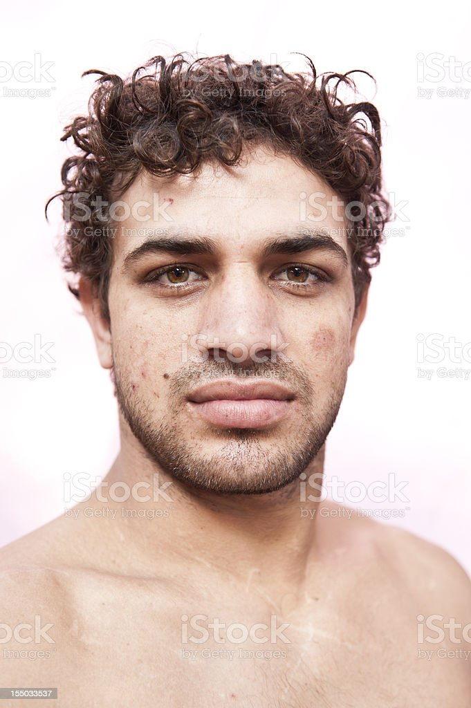 Indian Wrestler Portrait royalty-free stock photo