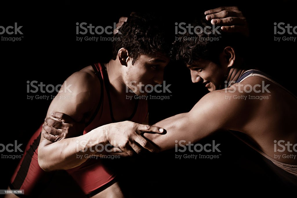 Indian wrestling royalty-free stock photo