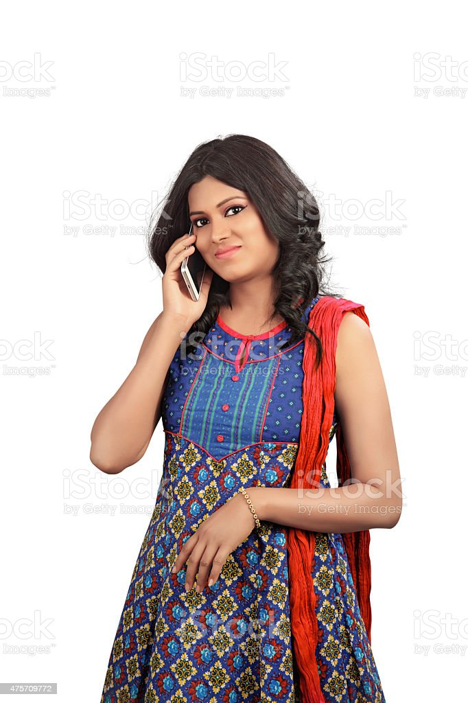 indian young girl stock photo