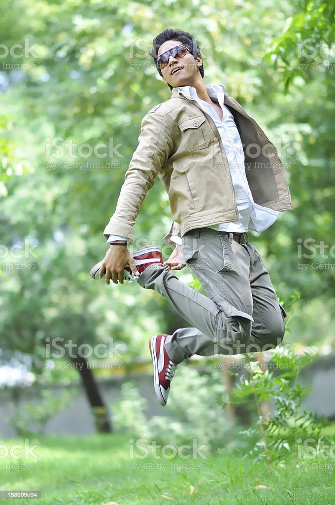 Indian young man Jumping royalty-free stock photo