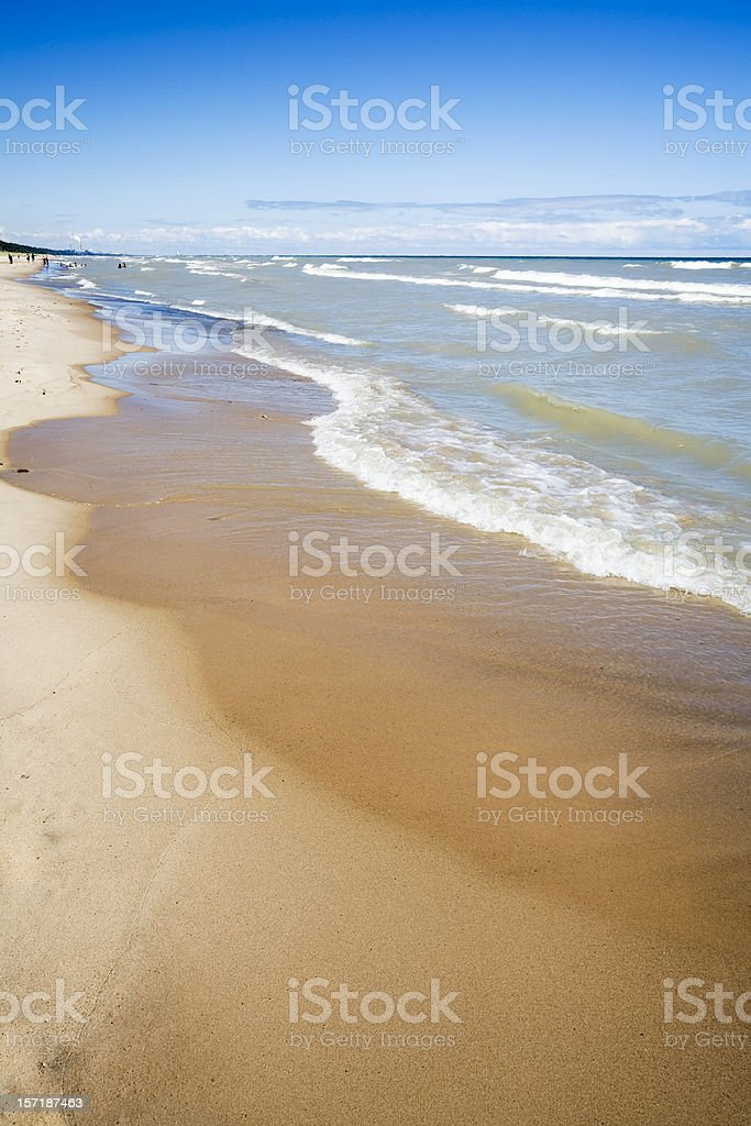 Indiana Beach on Lake Michigan royalty-free stock photo