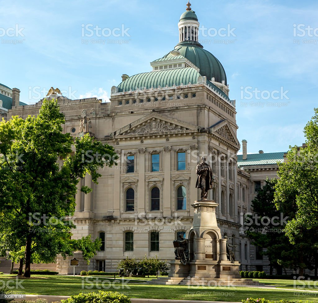 Indiana Capitol Building stock photo