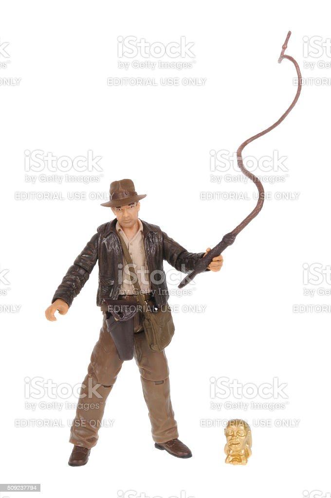 Indiana Jones action figure stock photo