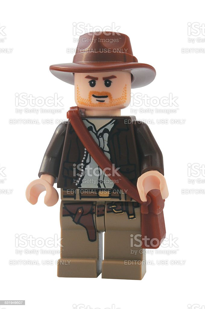 Indiana Jones Minifigure stock photo