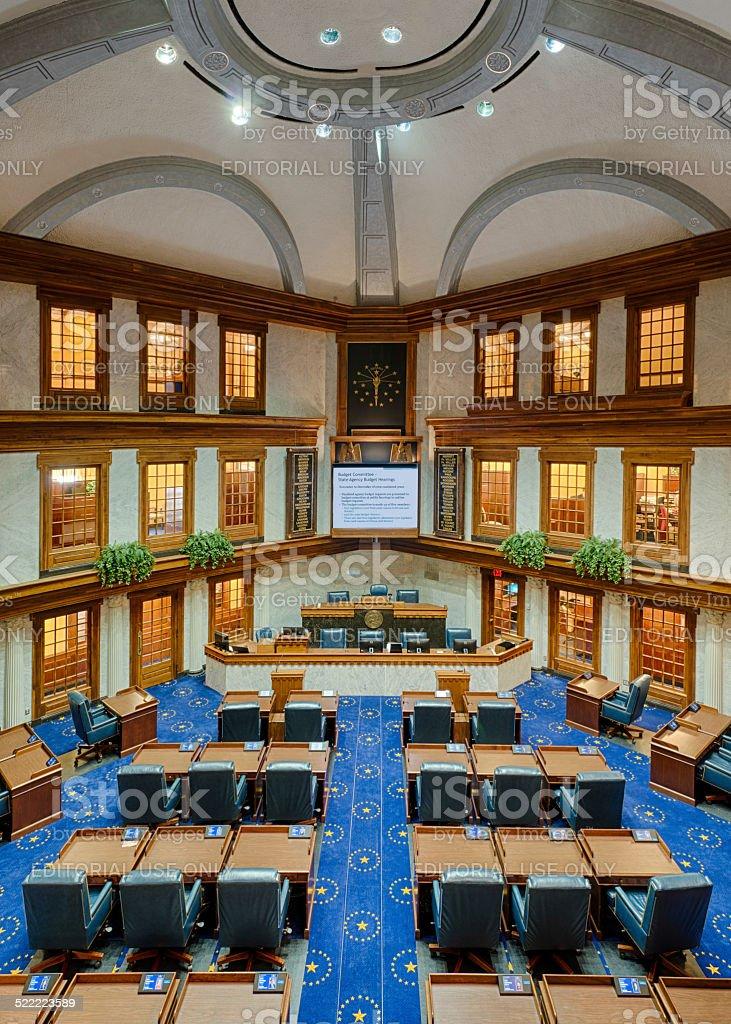 Indiana Senate Chamber stock photo