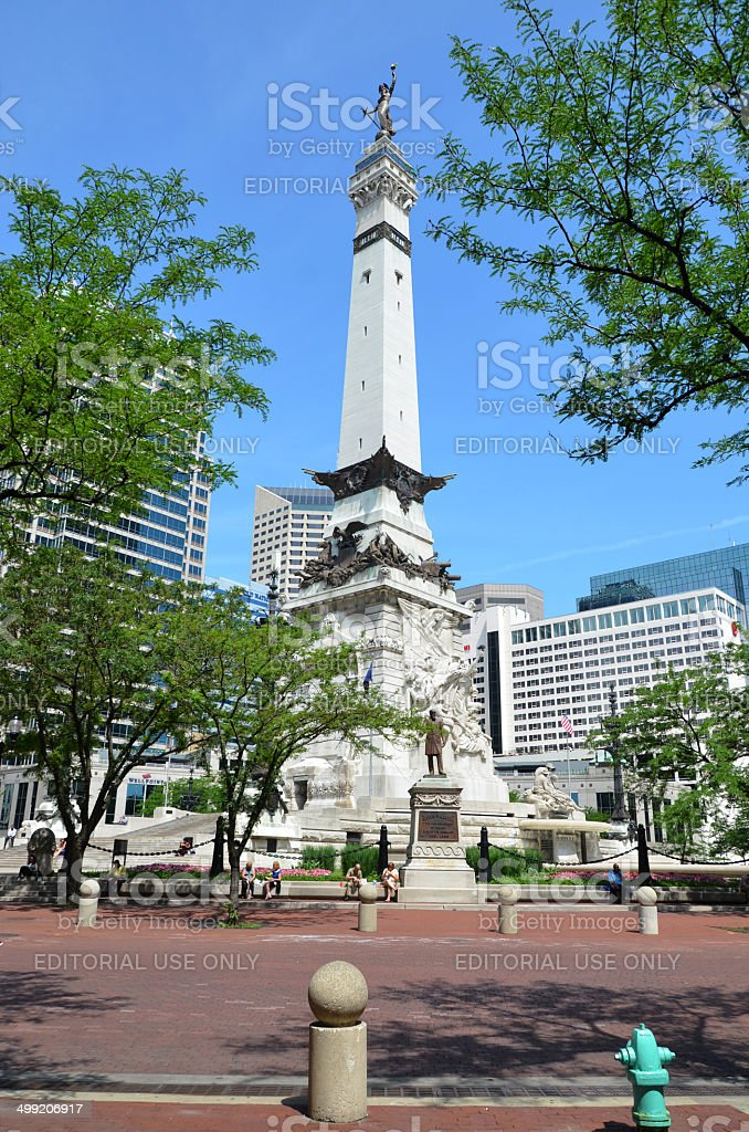Indiana Soldiers' and Sailors' Monument stock photo