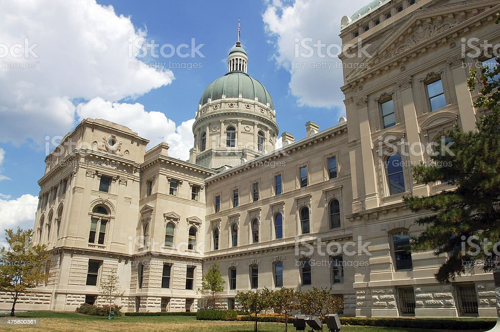 Indiana State Capitol Building, Indianapolis, Indiana, USA stock photo