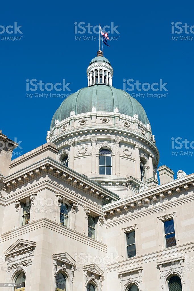 Indiana state house building in Indianapolis stock photo