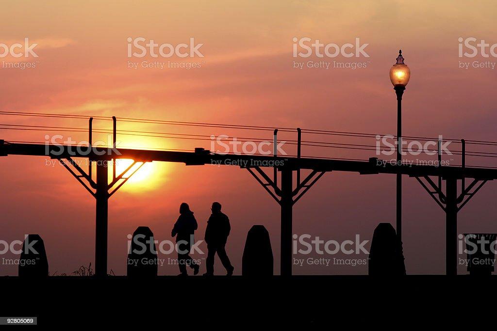 Indiana, Sunset royalty-free stock photo