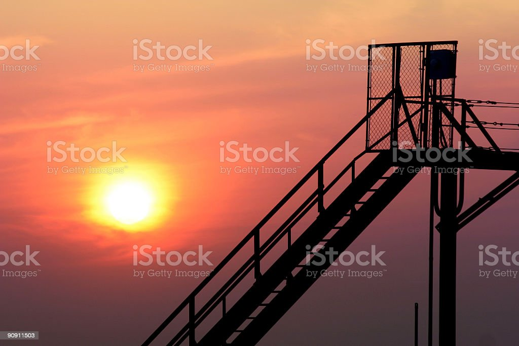 Indiana, Sunset, Walkway, path royalty-free stock photo
