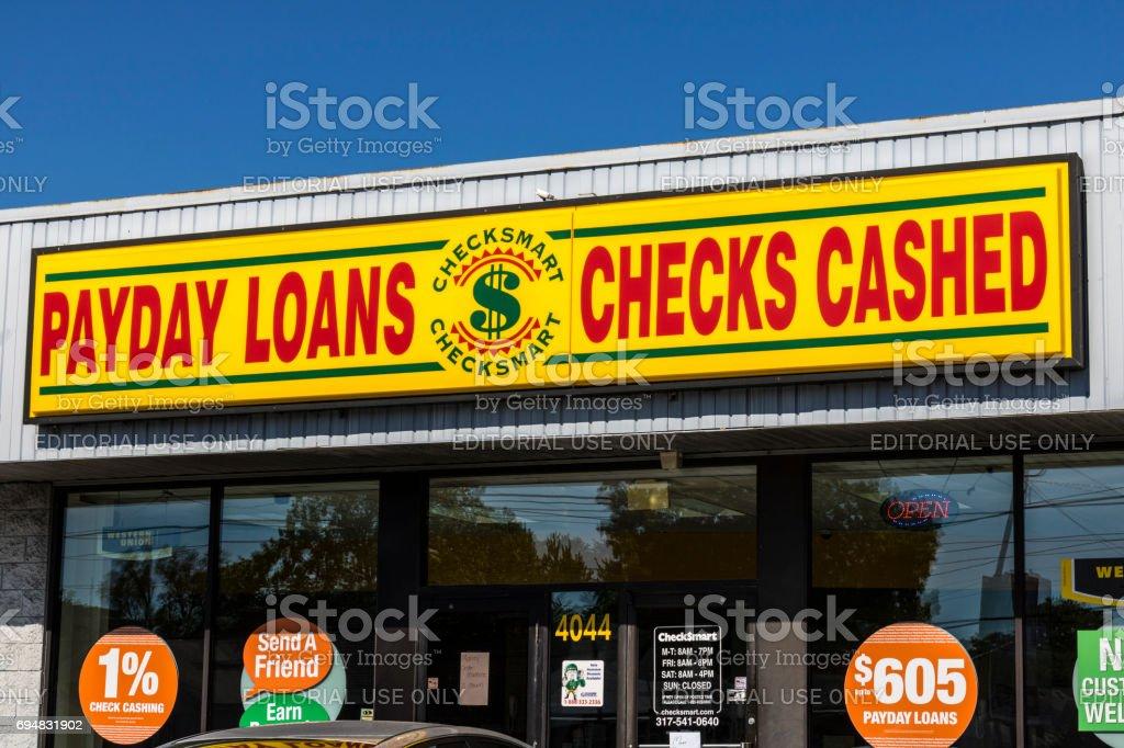 Indianapolis - Circa June 2017: CheckSmart Payday Loan Location. CheckSmart is an emergency cash advance company I stock photo