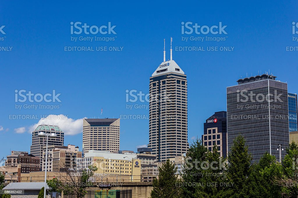 Indianapolis Downtown Skyline on a Sunny Day I photo libre de droits