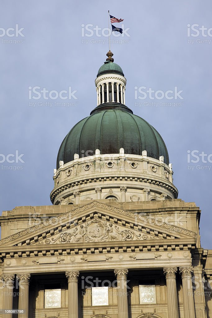 Indianapolis, Indiana - State Capitol royalty-free stock photo