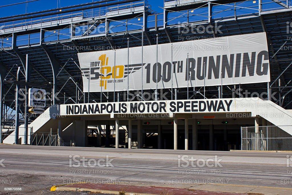 Indianapolis-février 2016 : Circuit Indianapolis Moteur Speedway photo libre de droits