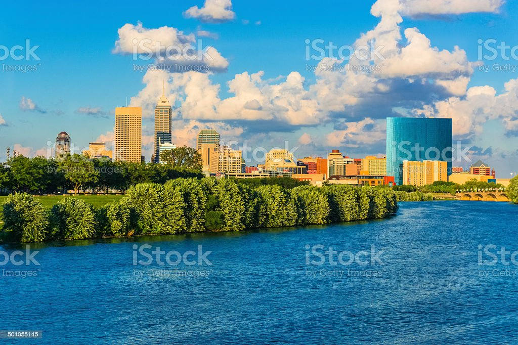 Indianapolis skyline, Indiana (P) stock photo