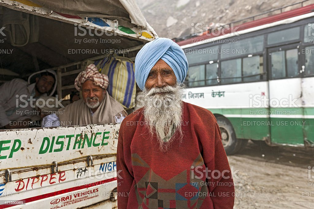 Indians Waiting on Marhi Pass After Landslide  India stock photo