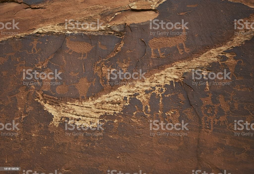 Indians Writings stock photo