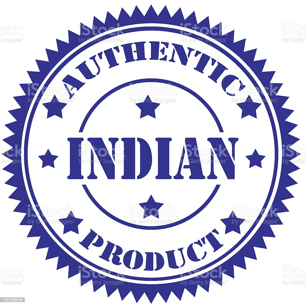 Indian-stamp royalty-free stock photo