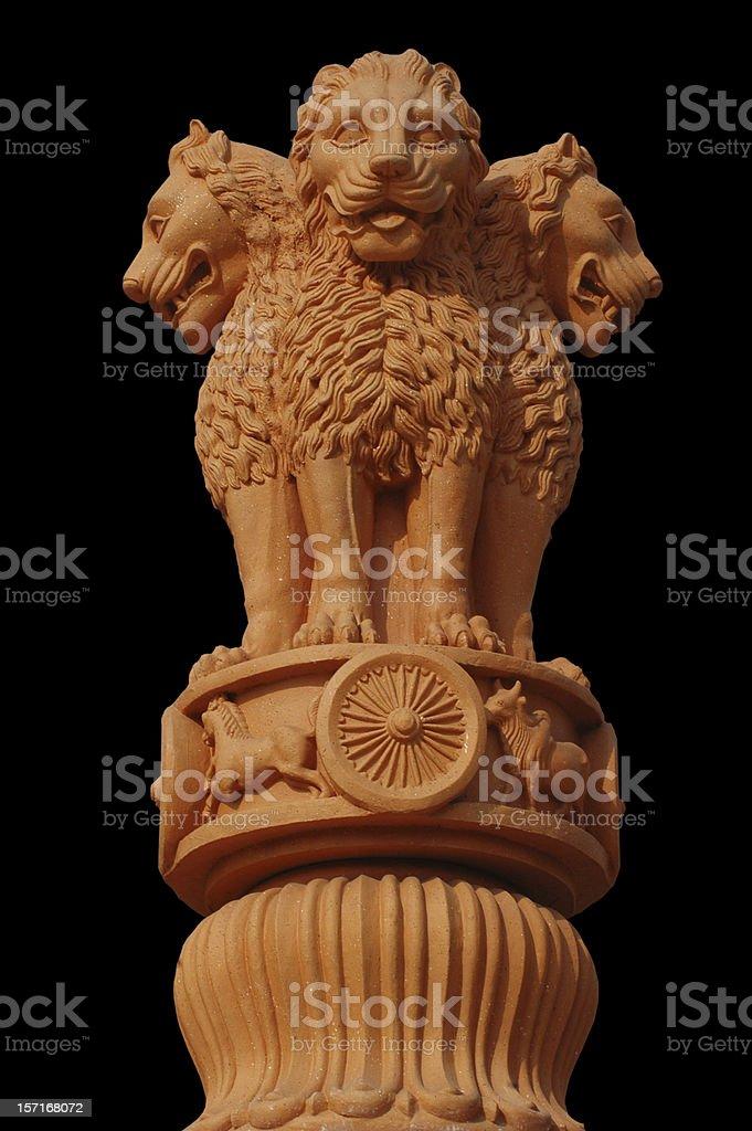 India's National Emblem stock photo