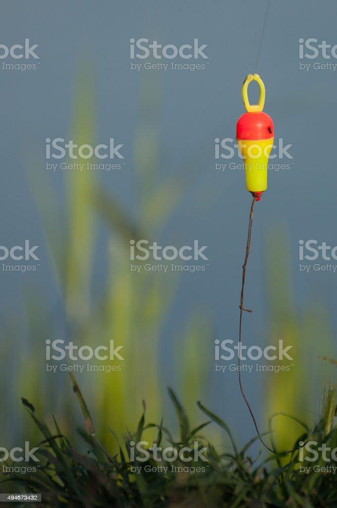 indicator alert when fish pulls the bait (bambina) stock photo