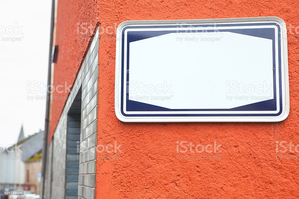indicator for street name stock photo