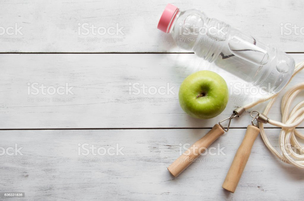 Indicators of healthy lifestyle stock photo