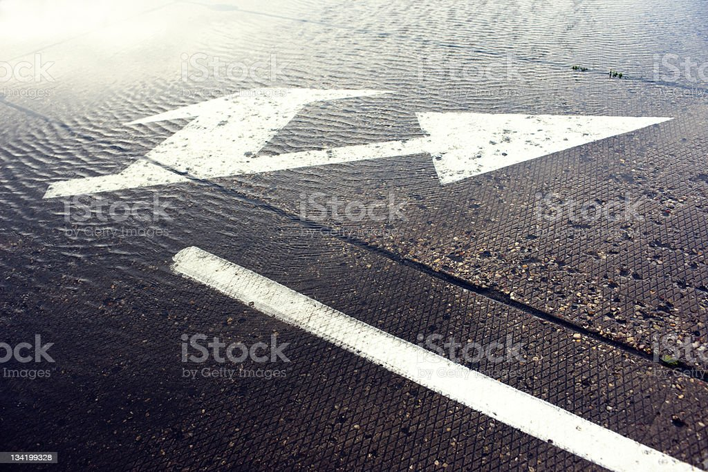 Indices of traffic on the asphalt stock photo
