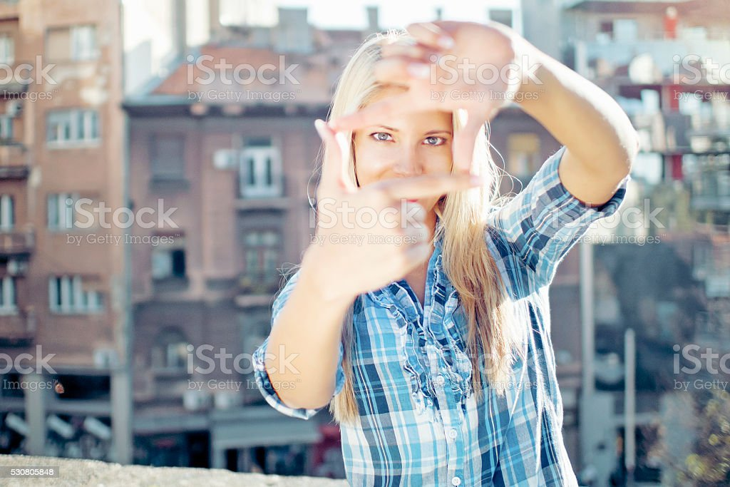 Indie filmmaker stock photo