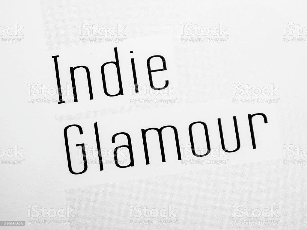 Indie glamour stock photo