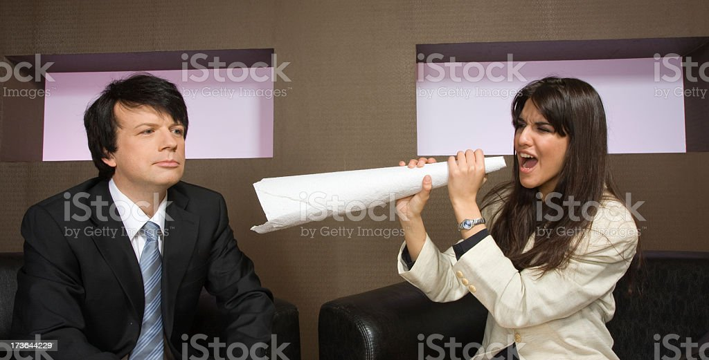 indifferent business man royalty-free stock photo