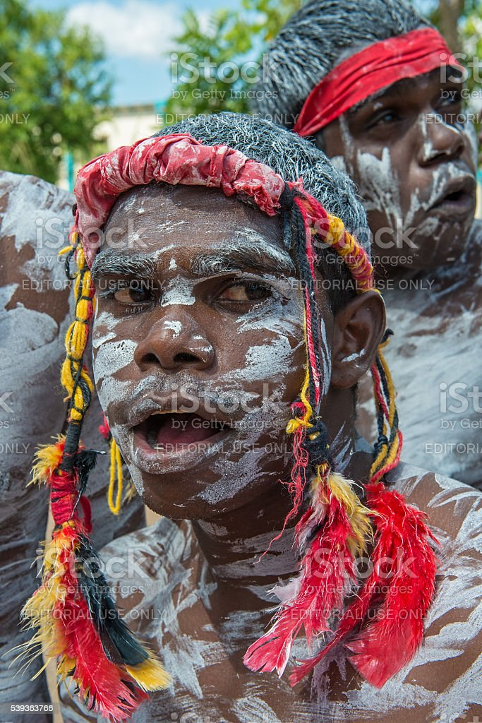 Indigenous Dancers Strike a Pose stock photo