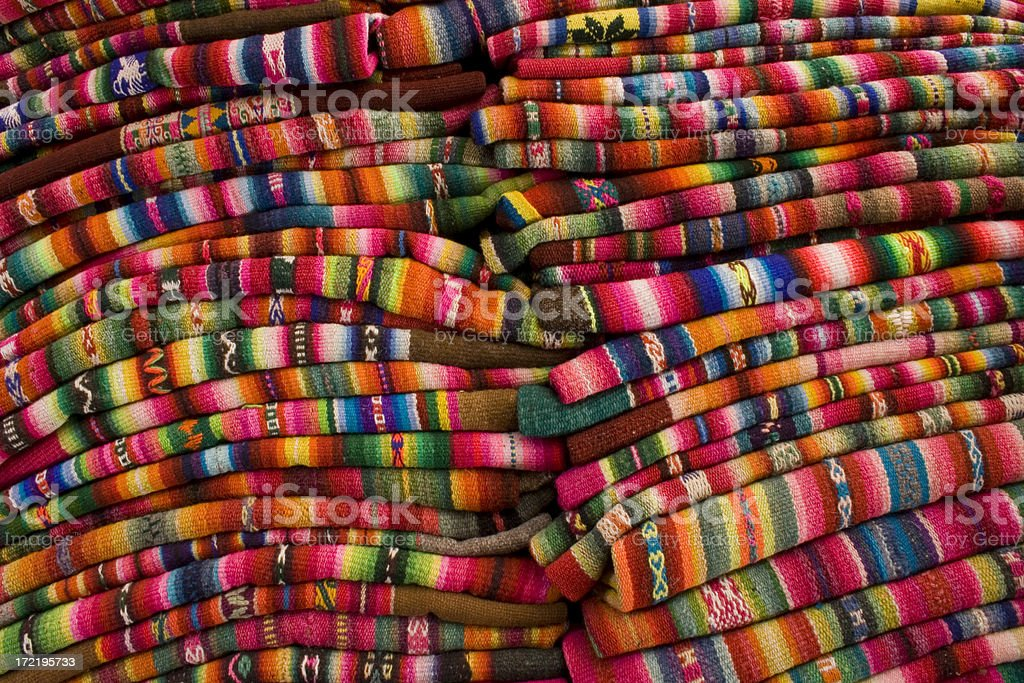 Indigenous fabrics royalty-free stock photo