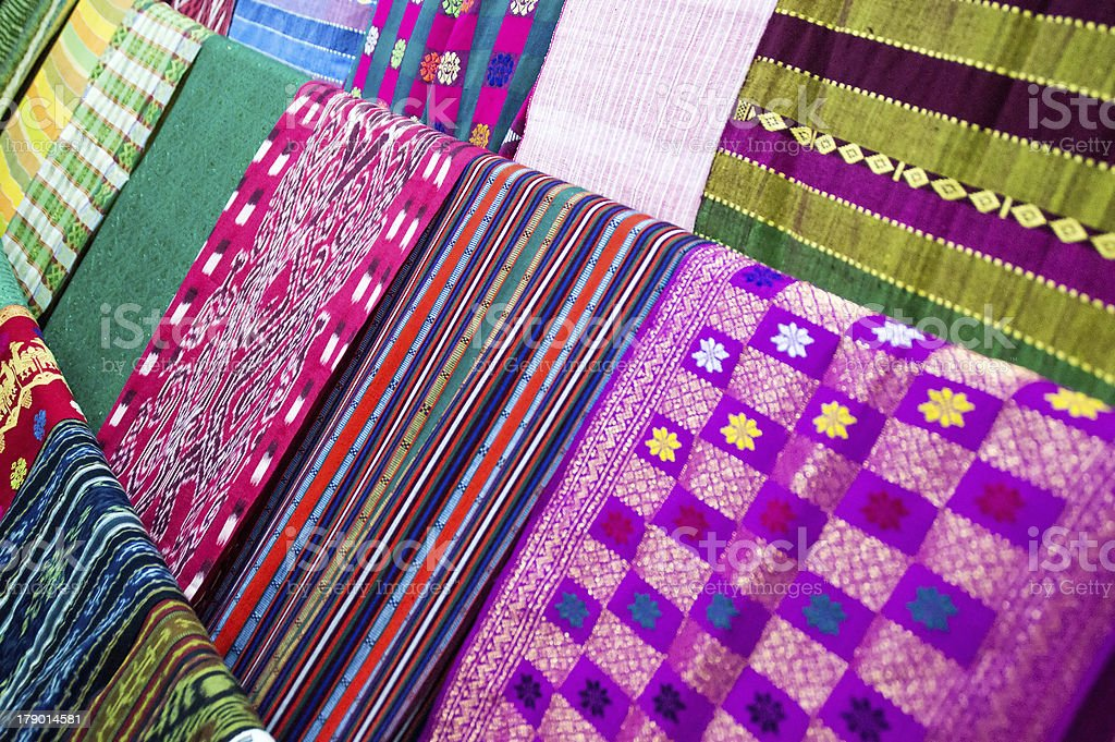 Indigenous Handwoven Fabric royalty-free stock photo
