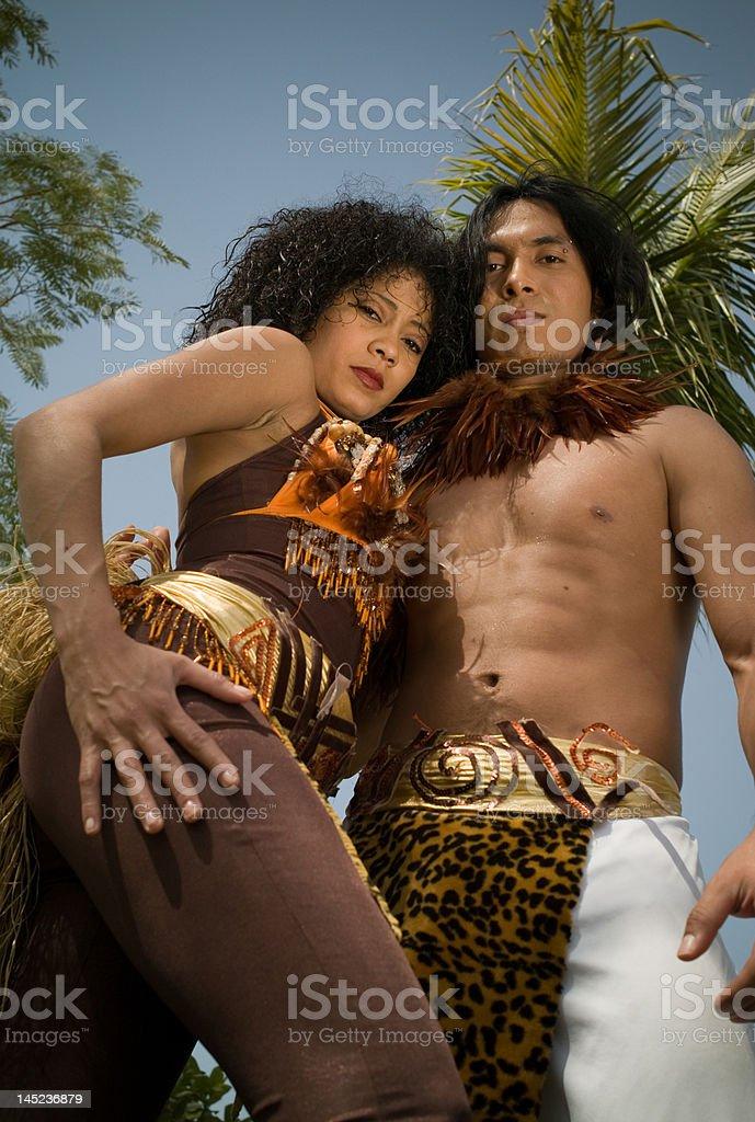 Indigenous Latin Couple royalty-free stock photo