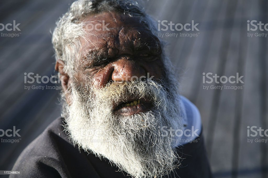 Indigenous man stock photo