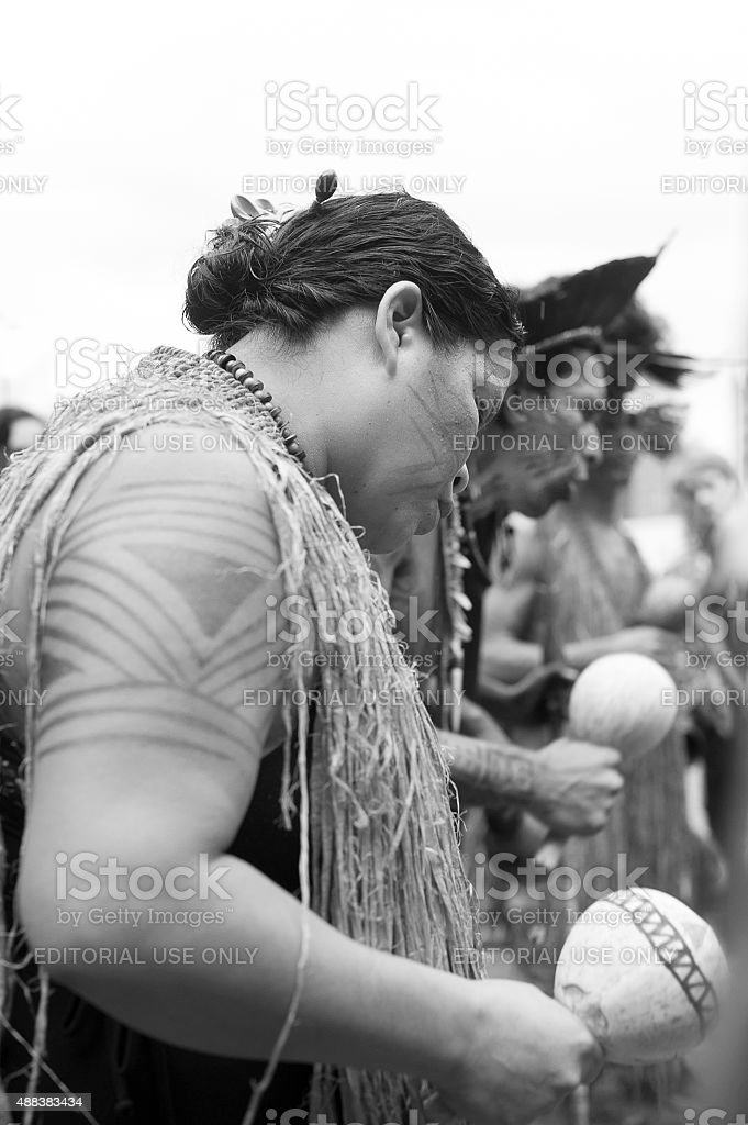 Indigenous Protest stock photo