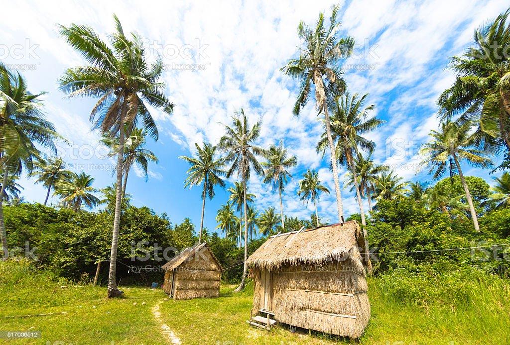 Indigenous Village in Cambodia stock photo