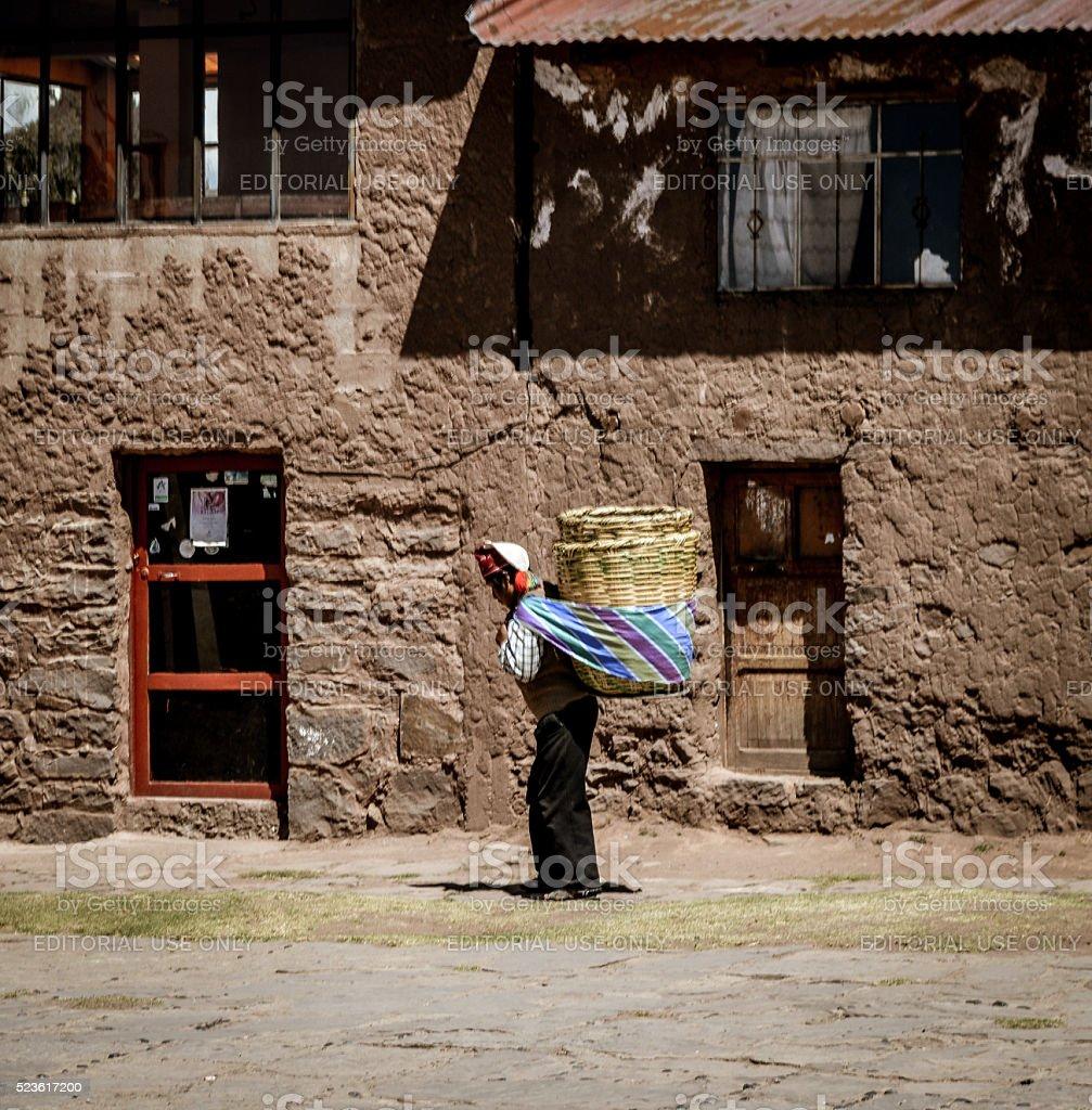 Indigenous woman - Peru stock photo