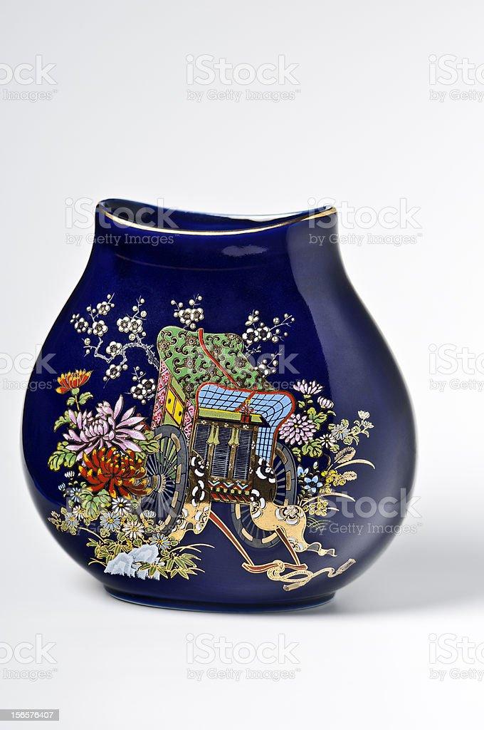 Indigo Blue chinese porcelain stock photo