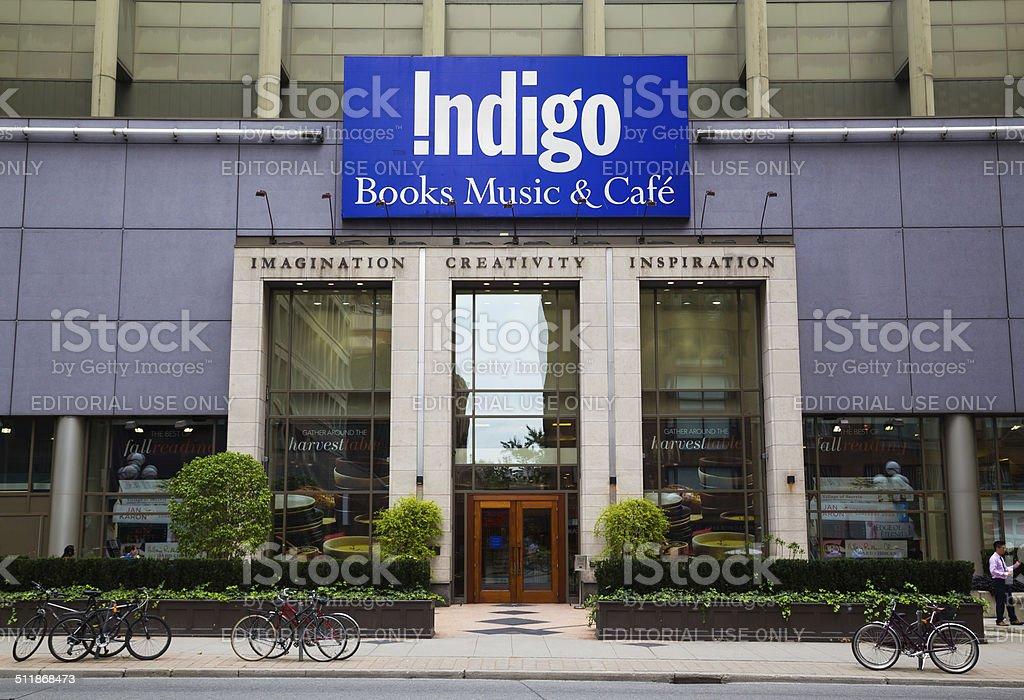 Indigo Book Store stock photo