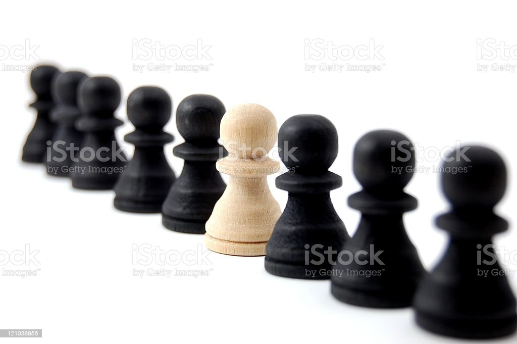 individual chess people royalty-free stock photo