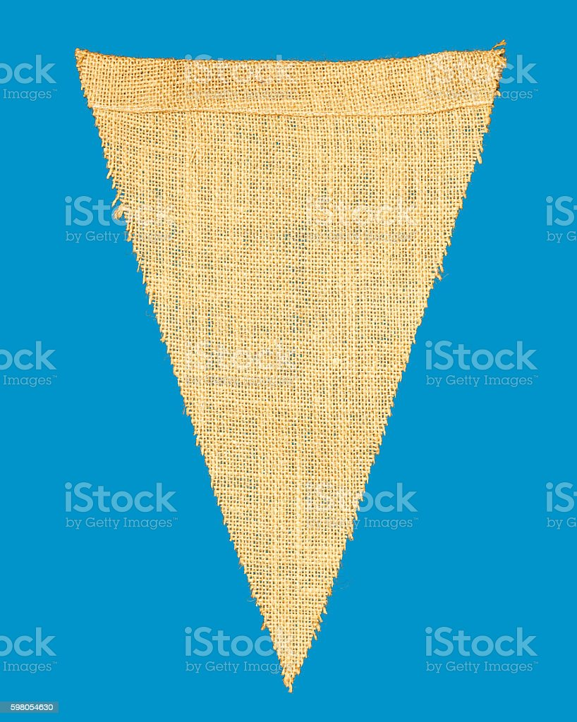 Individual cloth pennant or string flag stock photo