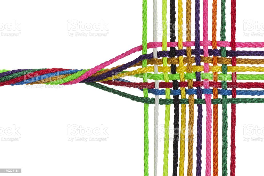 Individual Strands Join to Form One Fabric, Network, Business, Family stock photo