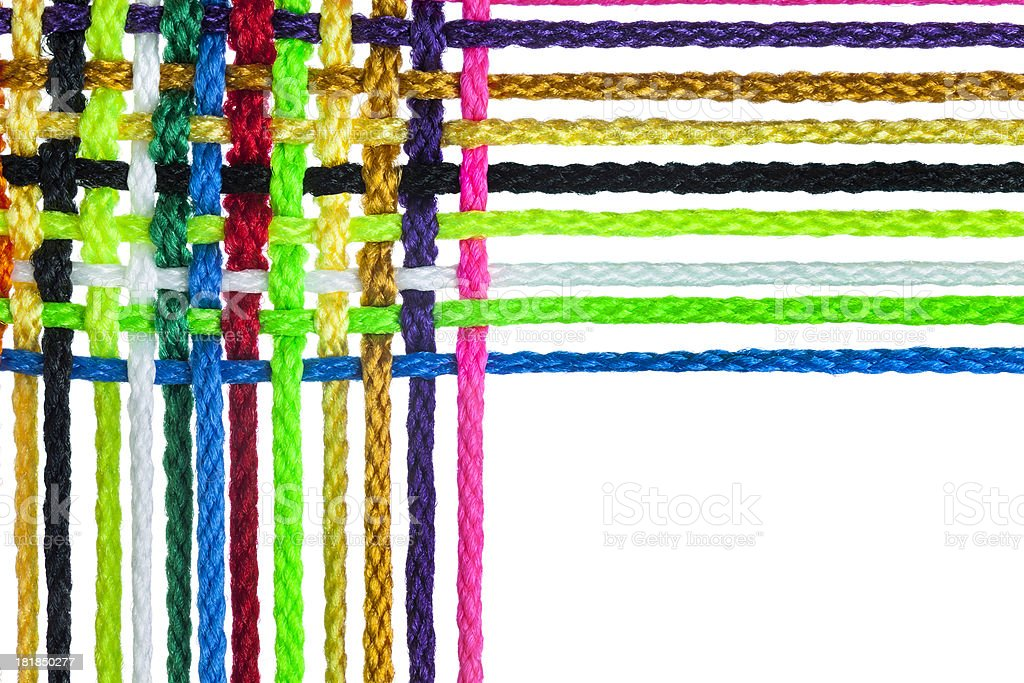 Individual Strands Joining Together As Team, Company, Family or Network stock photo