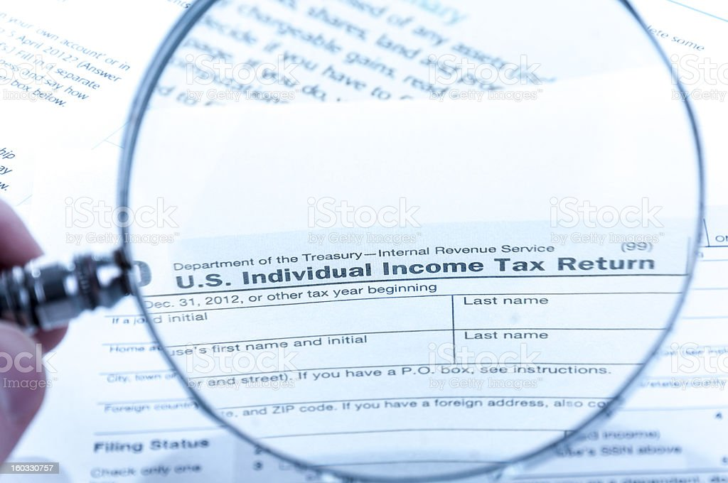 Individual tax form royalty-free stock photo